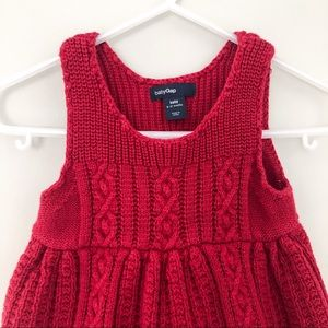 baby Gap Knit Red Dress Size 6-12 months